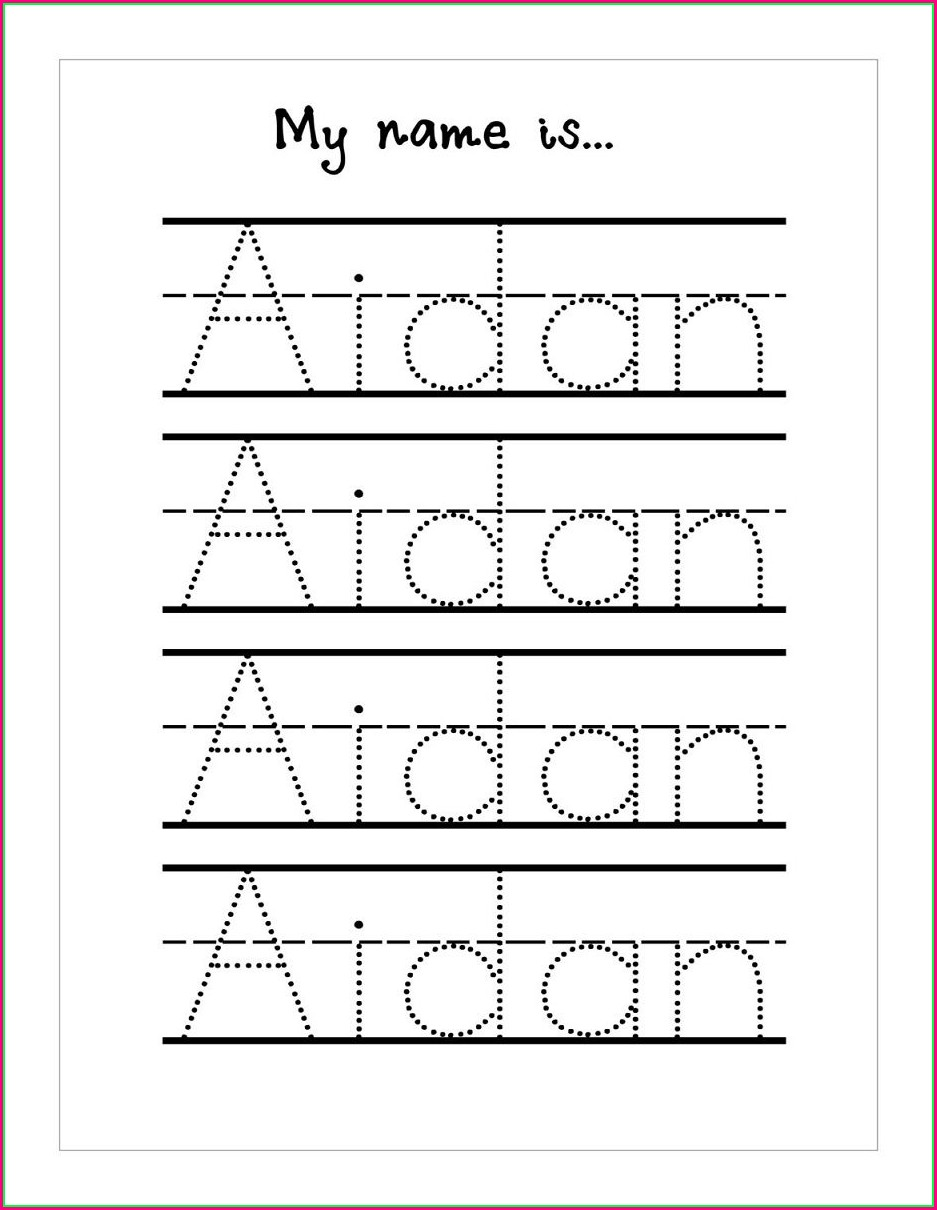 Free Printable Free Name Tracing Worksheets For Preschool