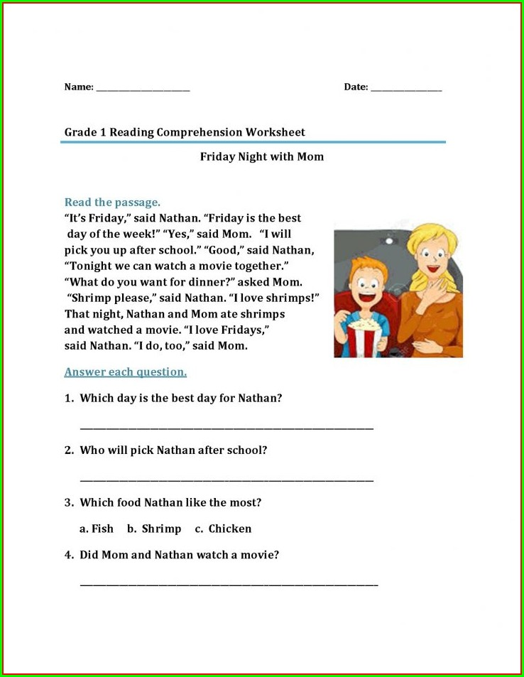 Free Printable Grade 9 English Worksheets