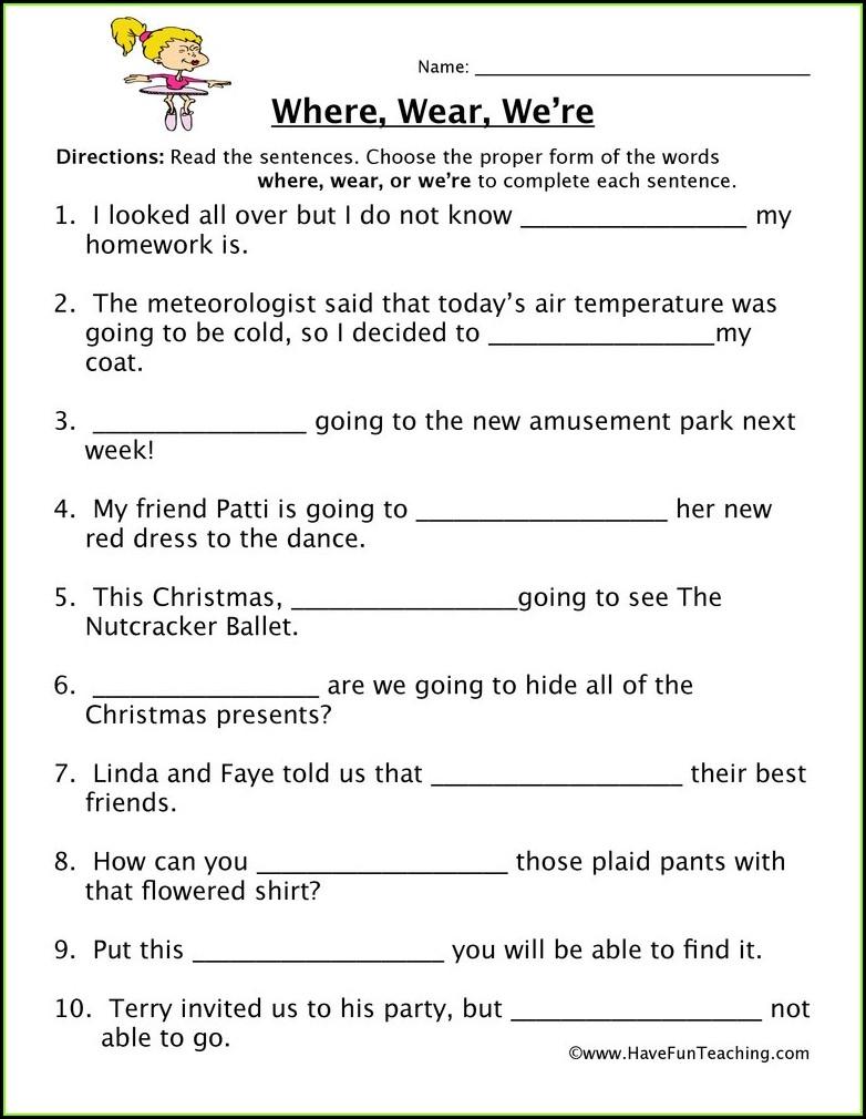 Free Printable Homophones Worksheets For Grade 2
