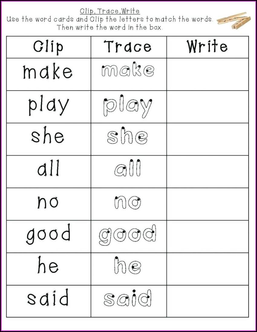 Free Printable Kindergarten Sight Word Sentences Worksheets