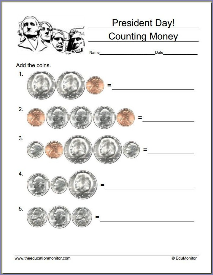 Free Printable Presidents Day Math Worksheets