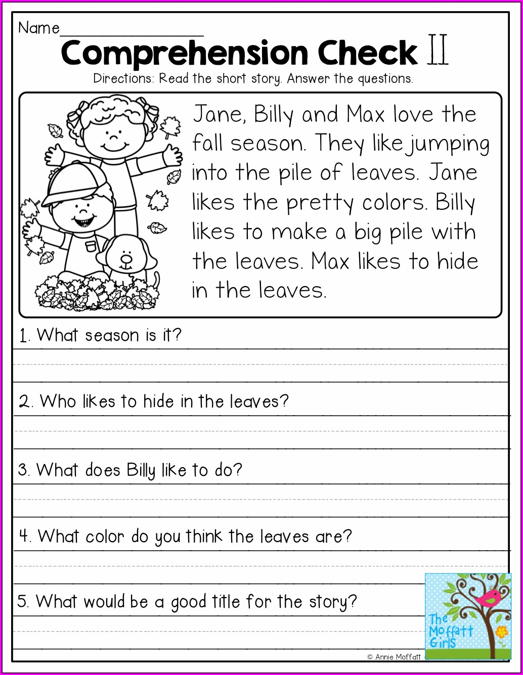 Free Printable Printable Grade 1 Reading Worksheets