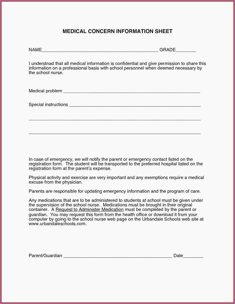 Free Printable School Nurse Forms