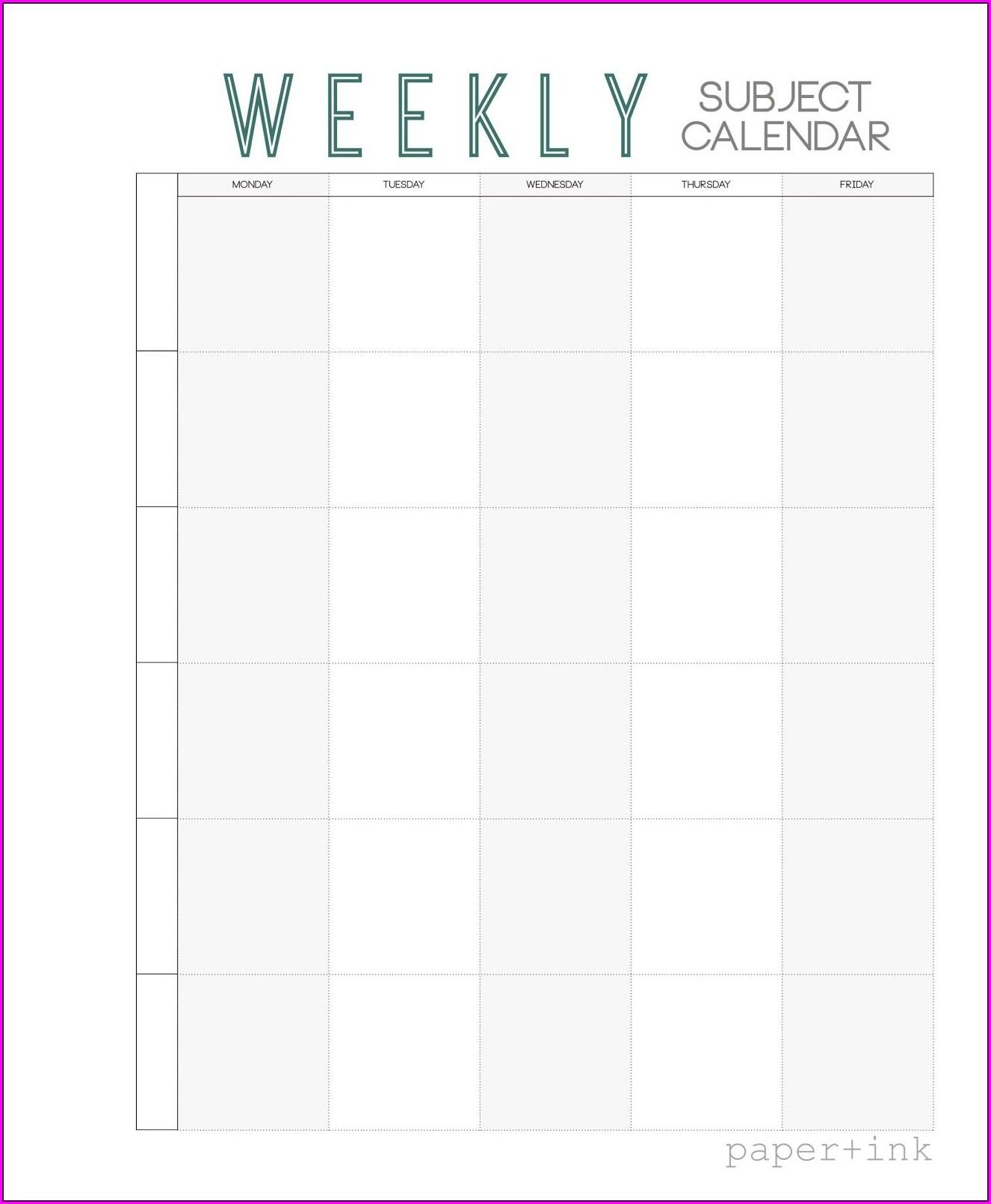 Free Printable School Weekly Planner