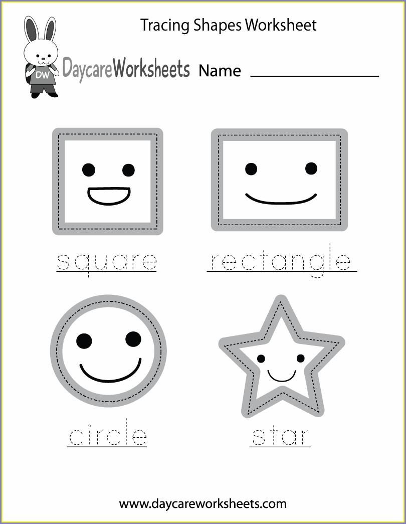 Free Printable Shapes Worksheet For Preschool