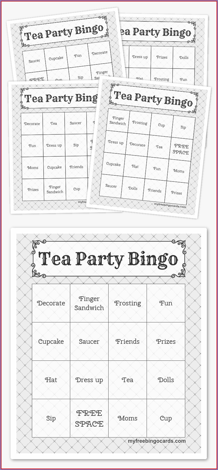 Free Printable Time Bingo Printable