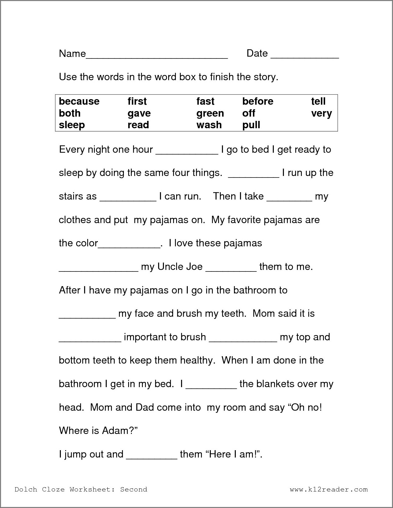 Free Printable Worksheet For 3rd Grade