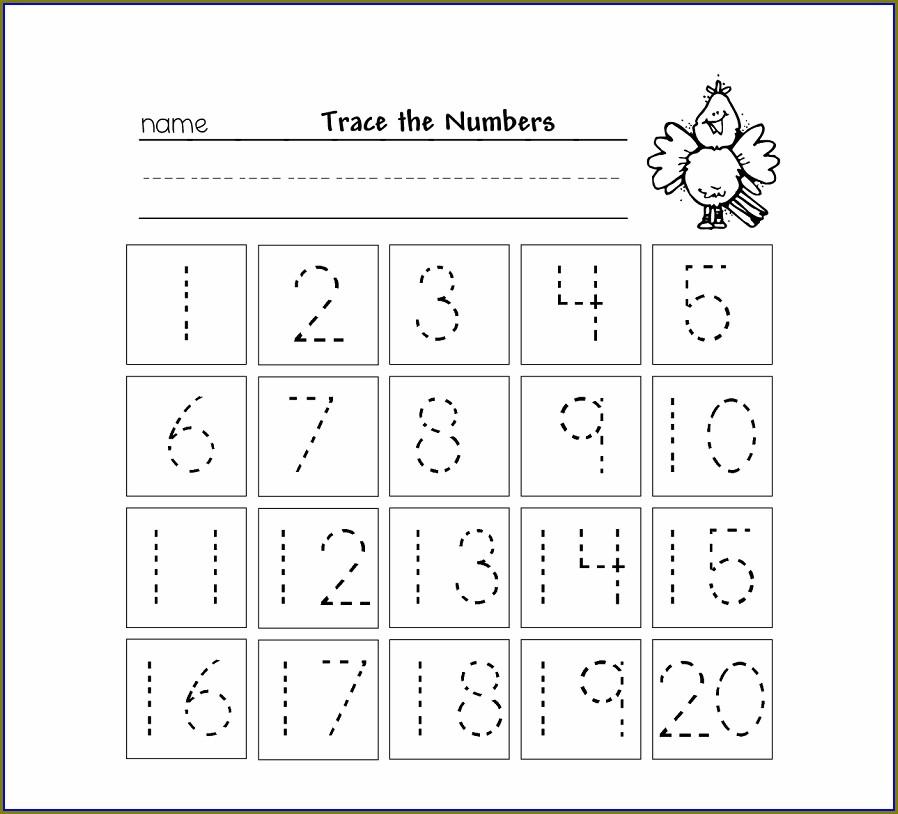 Free Printable Writing Numbers 1 20 Worksheets