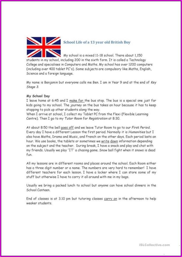 Free Reading Comprehension Ks3 Worksheets Printable