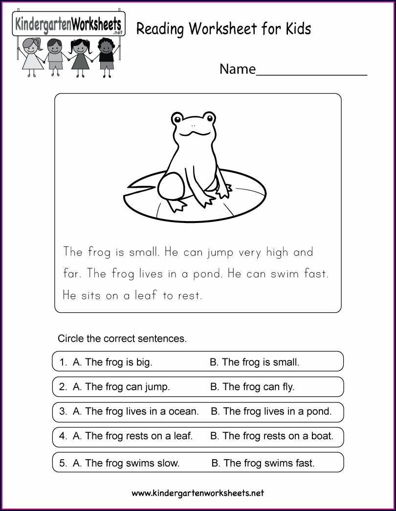 Free Reading Comprehension Passages For Kindergarten