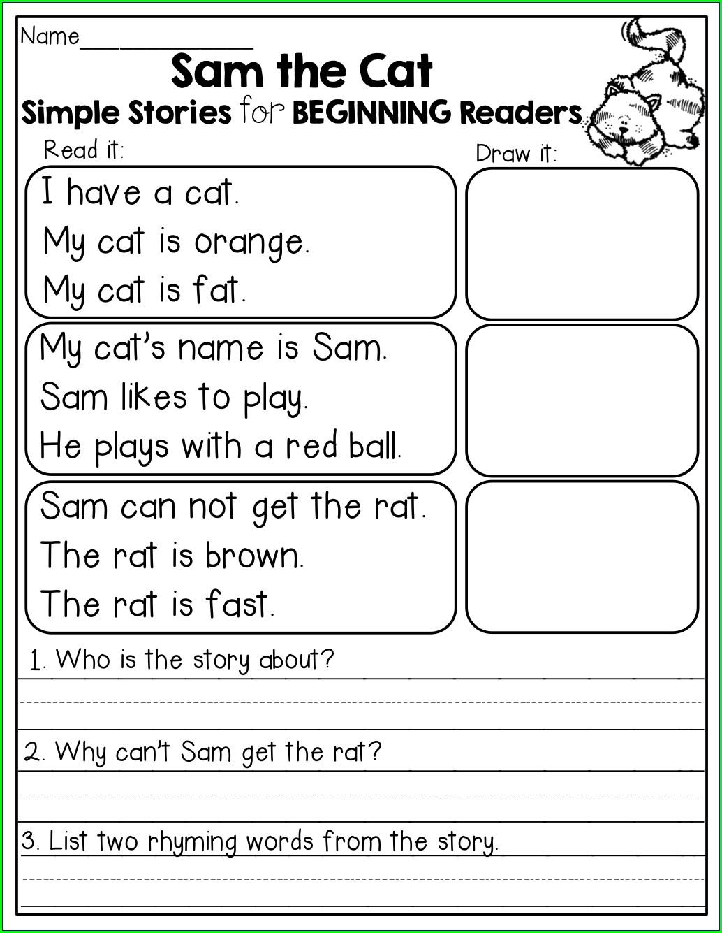 Fun 2nd Grade Reading Worksheets