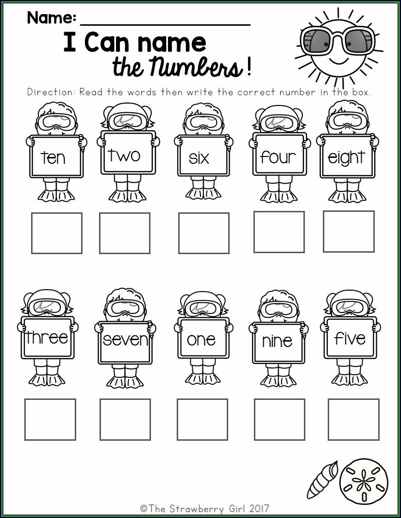 Fun Math Worksheet For Kindergarten