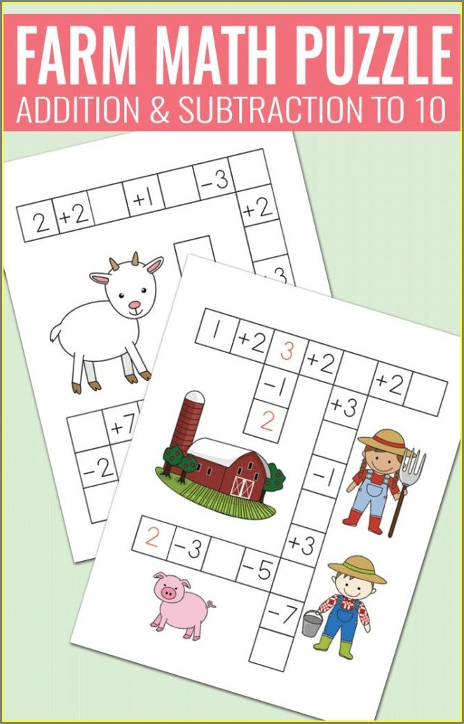 Fun Math Worksheets And Puzzles