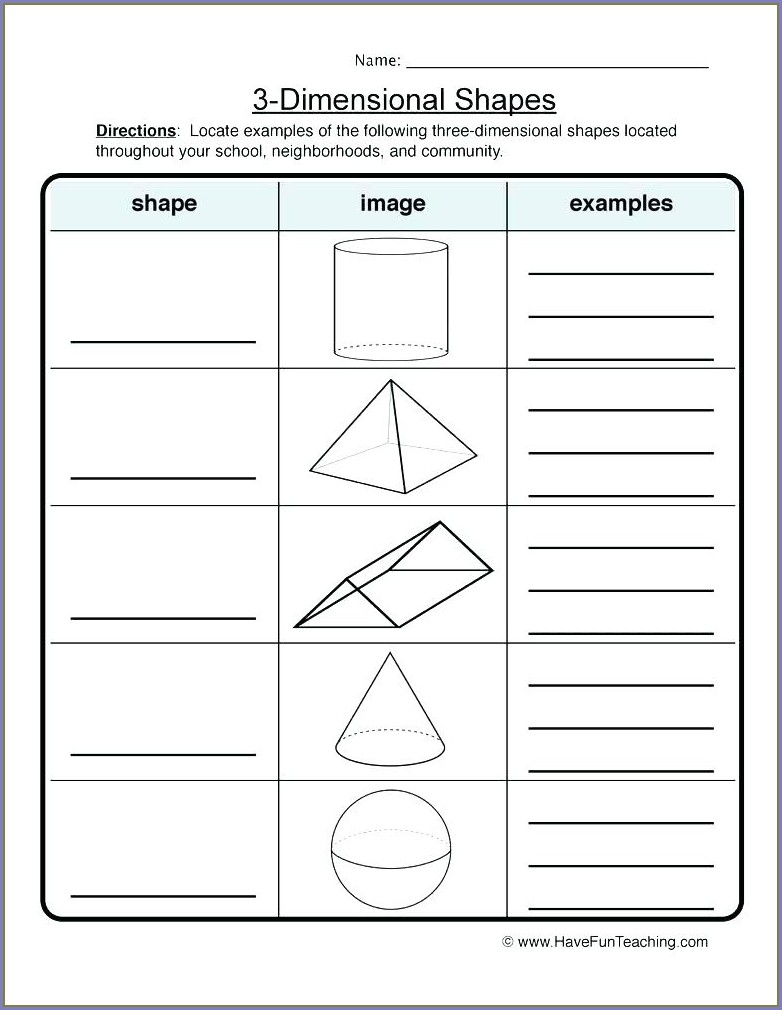 Geometry 3rd Grade Common Core Worksheets