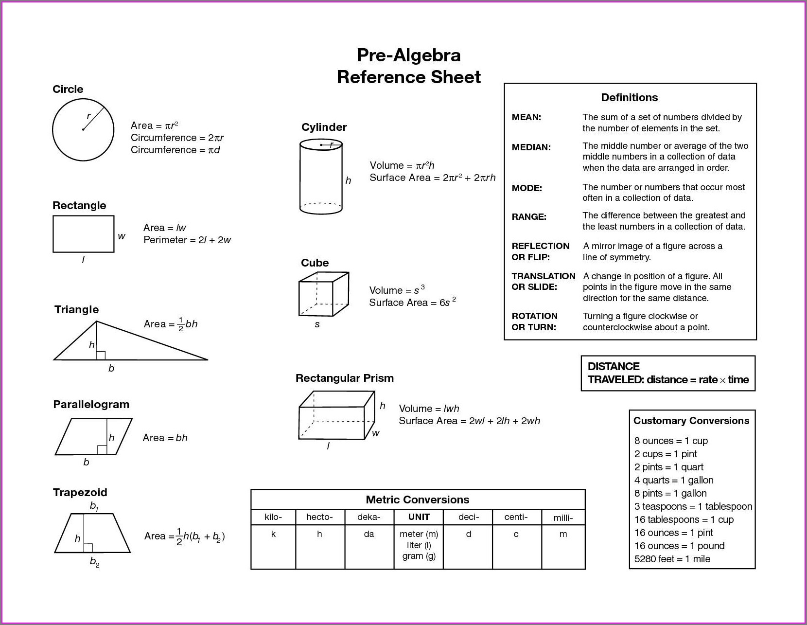 Geometry 8th Grade Math Worksheets