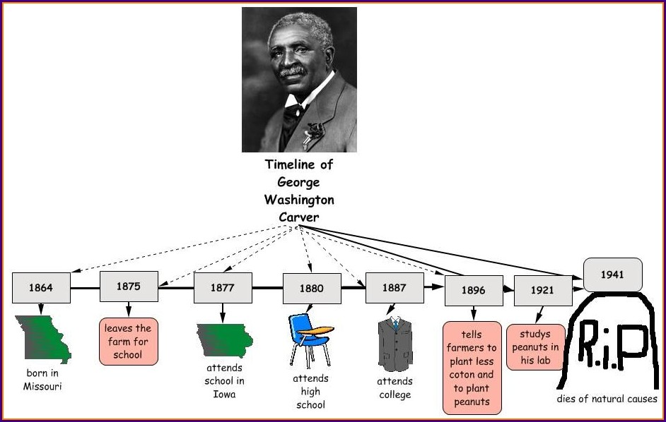 George Washington Carver Timeline Worksheet