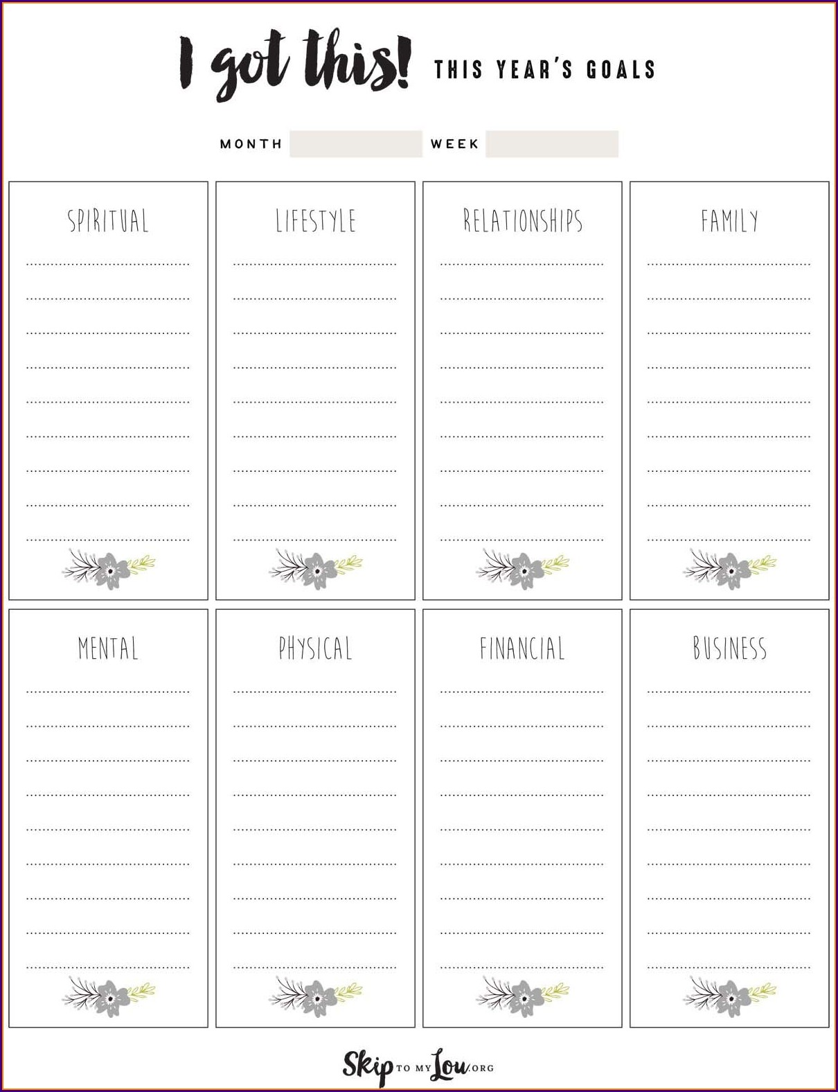 Goal Setting And Planning Worksheet