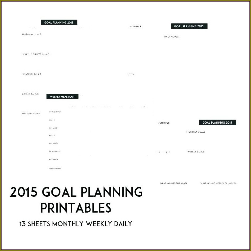 Goal Setting Worksheet Template For Students