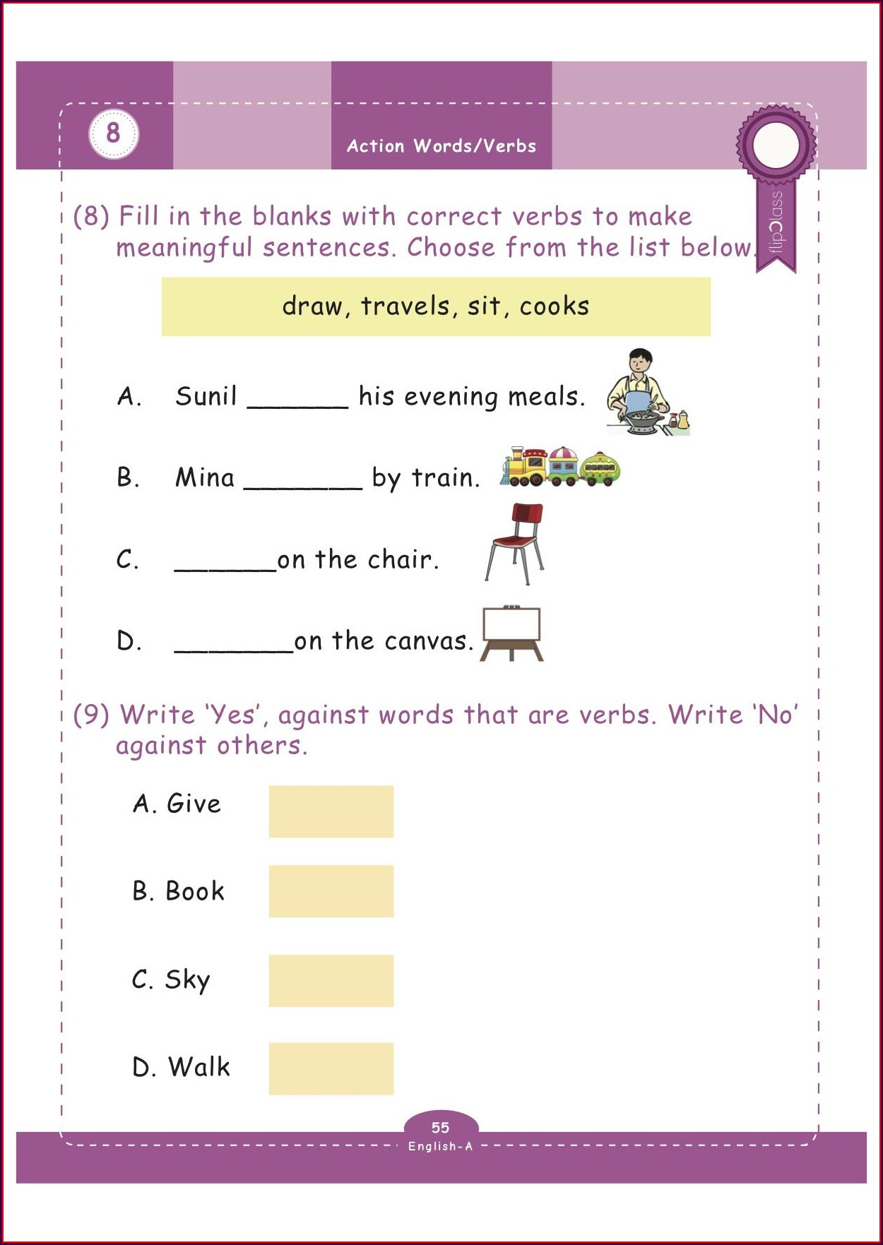 Grade 1 Class One English Worksheets