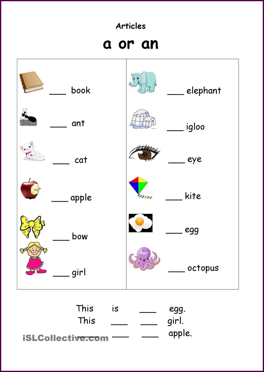 Grade 1 English Worksheets For Kids Kindergarten