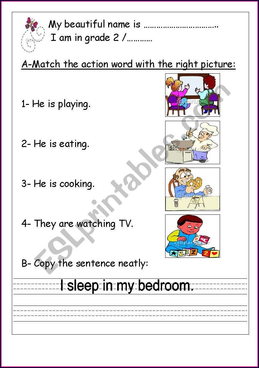 Grade 1 English Worksheets For Kids