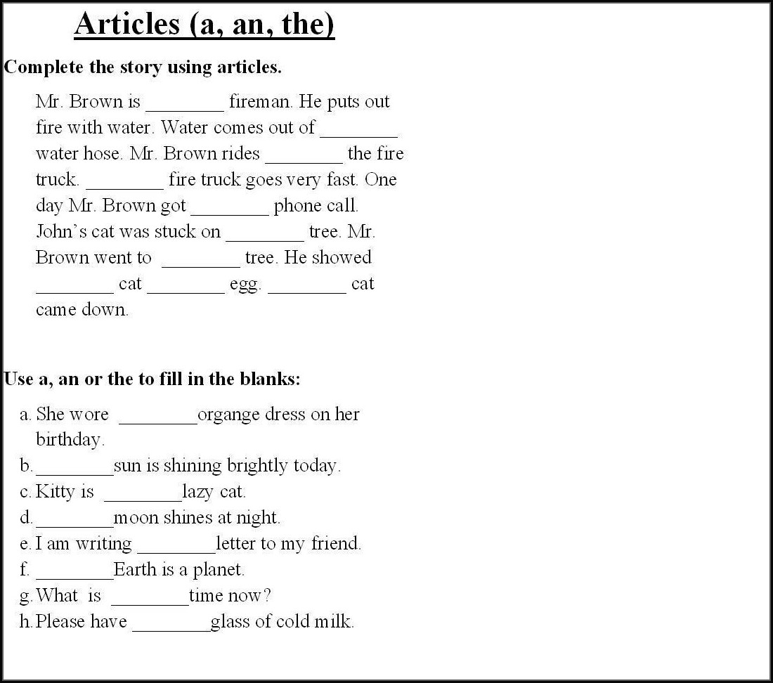 Grade 1 English Worksheets Pdf