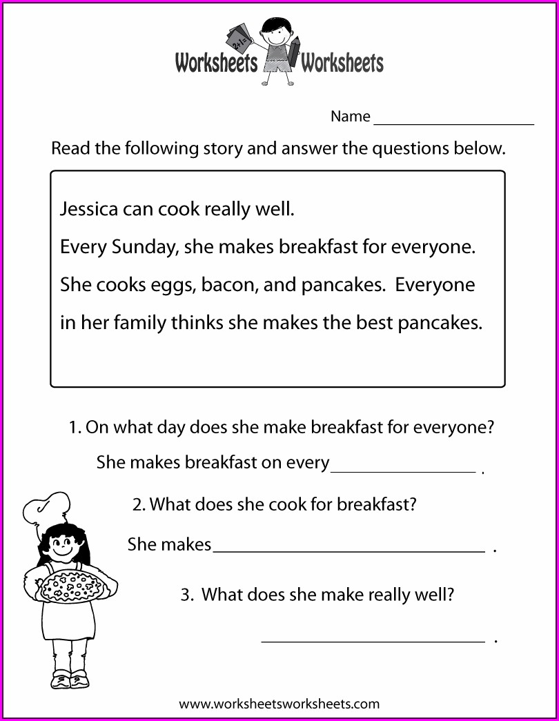 Grade 1 Printable Grade 1 Reading Comprehension Worksheets Pdf