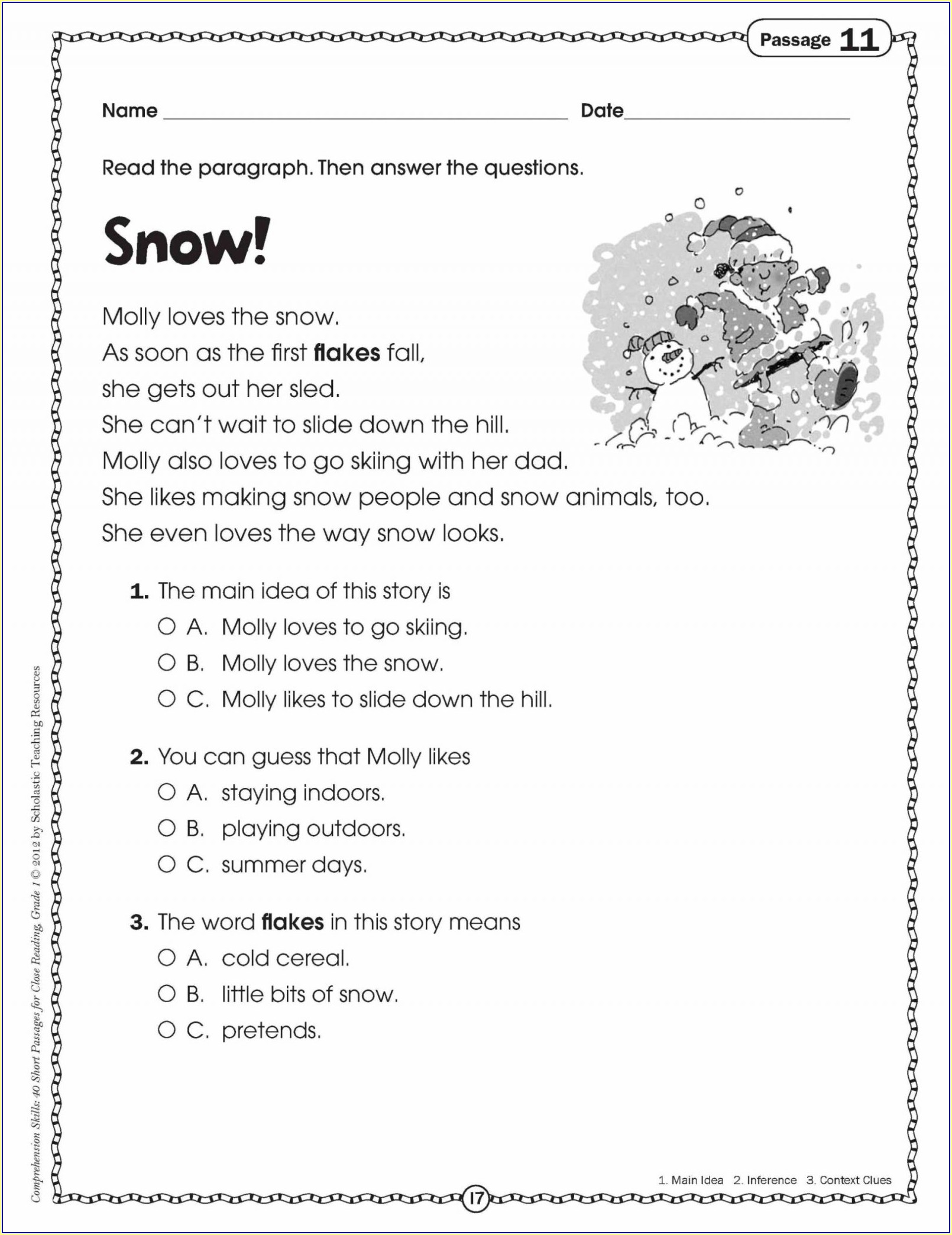 Grade 2 2nd Grade Comprehension Worksheets