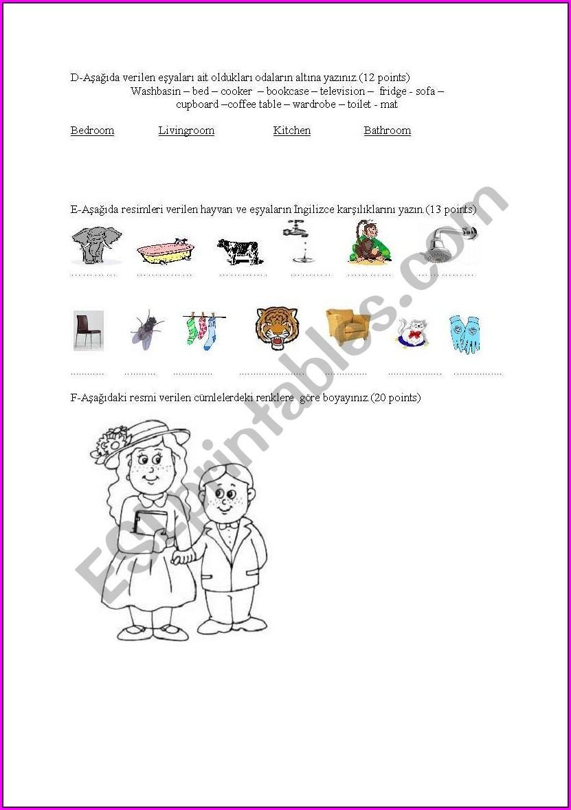 Grade 2 English Revision Worksheets