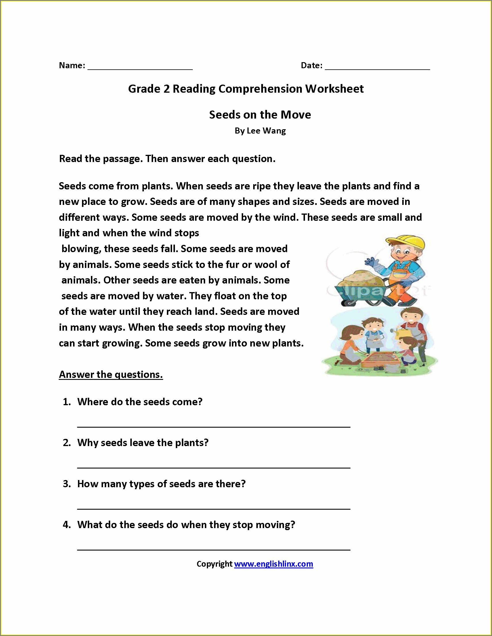 Grade 2 English Worksheets South Africa Pdf