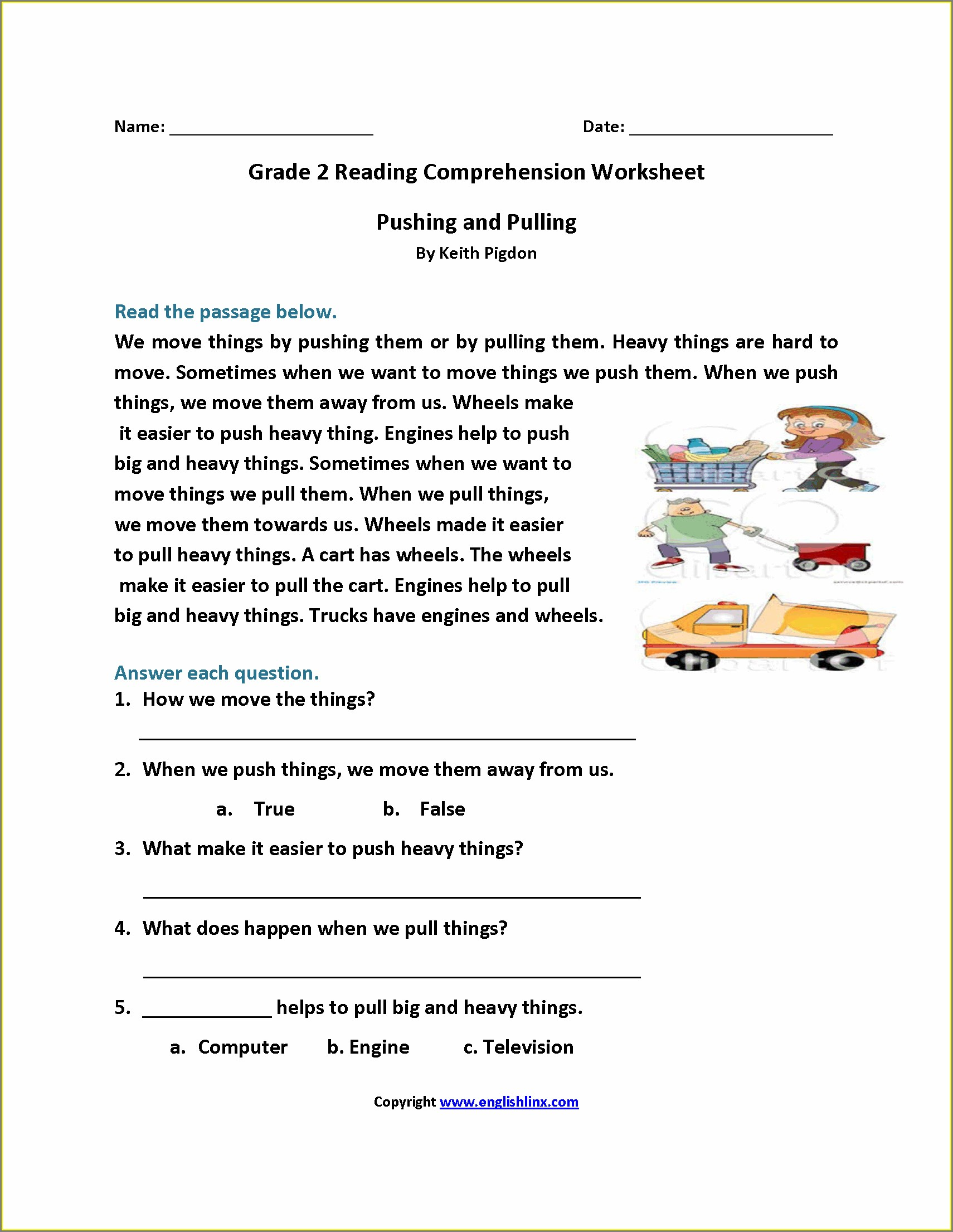 Grade 2 English Worksheets South Africa