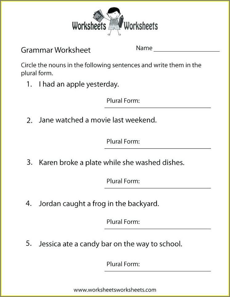 Grade 2 Language Arts Worksheets