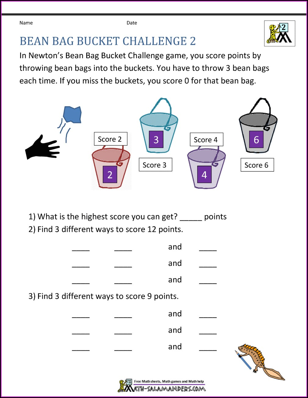 Grade 2 Math Challenge Worksheets