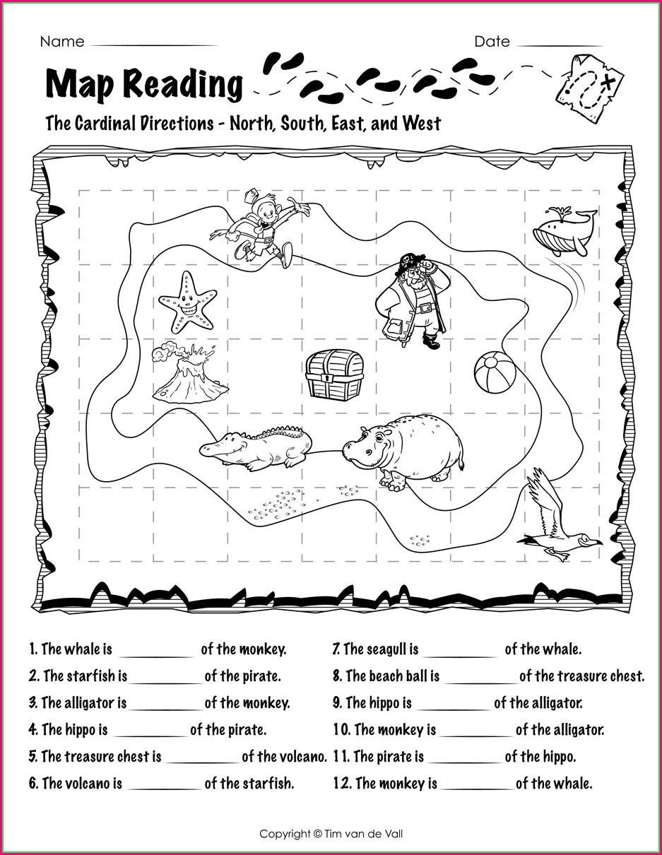 Grade 2 Reading A Map Worksheet Pdf