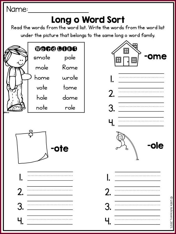 Grade 2 Short Vowel Worksheets 2nd Grade