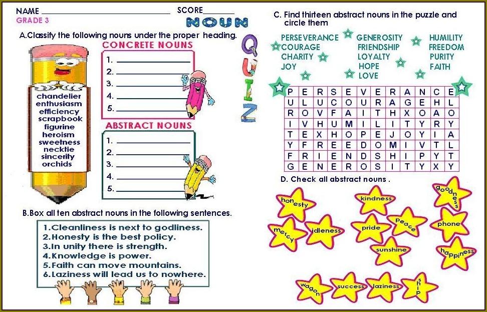 Grade 3 English Worksheets Download