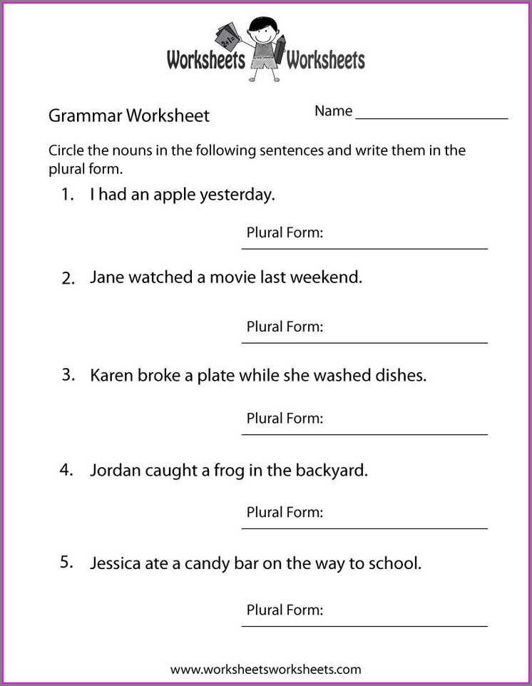 Grade 3 English Worksheets Free Printable
