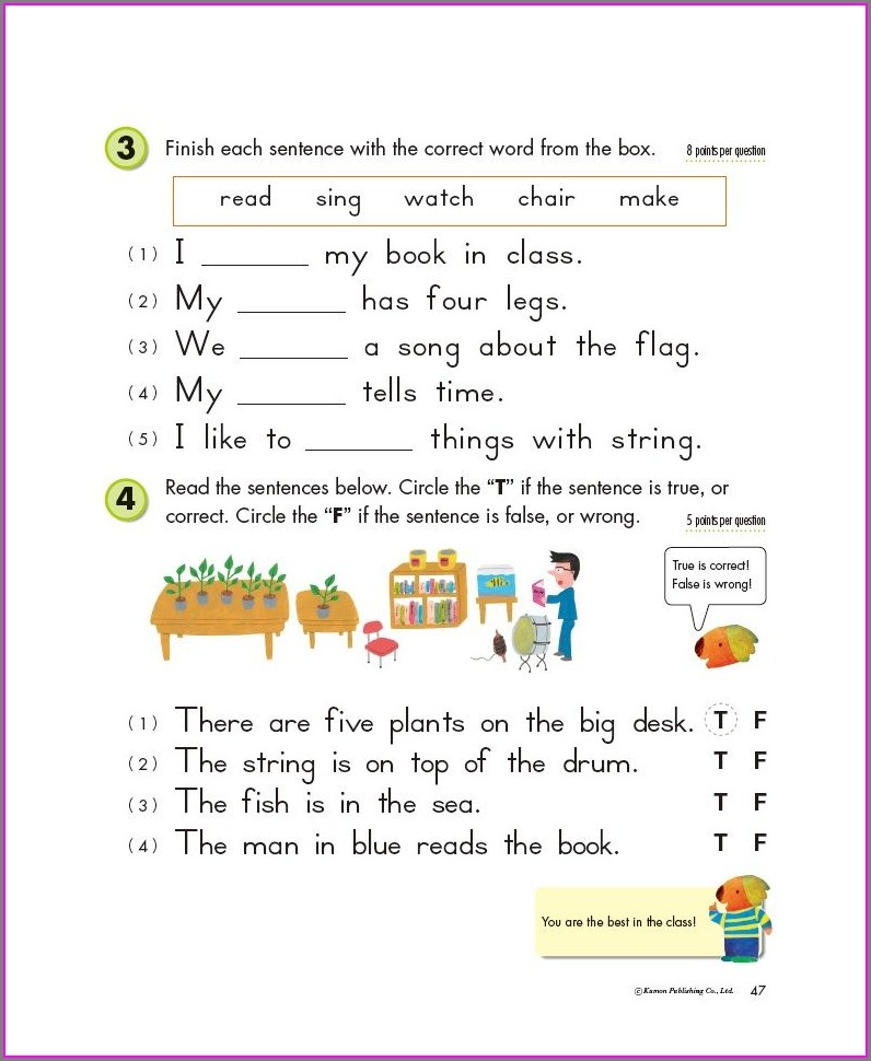 Grade 3 Free Printable Kumon English Worksheets