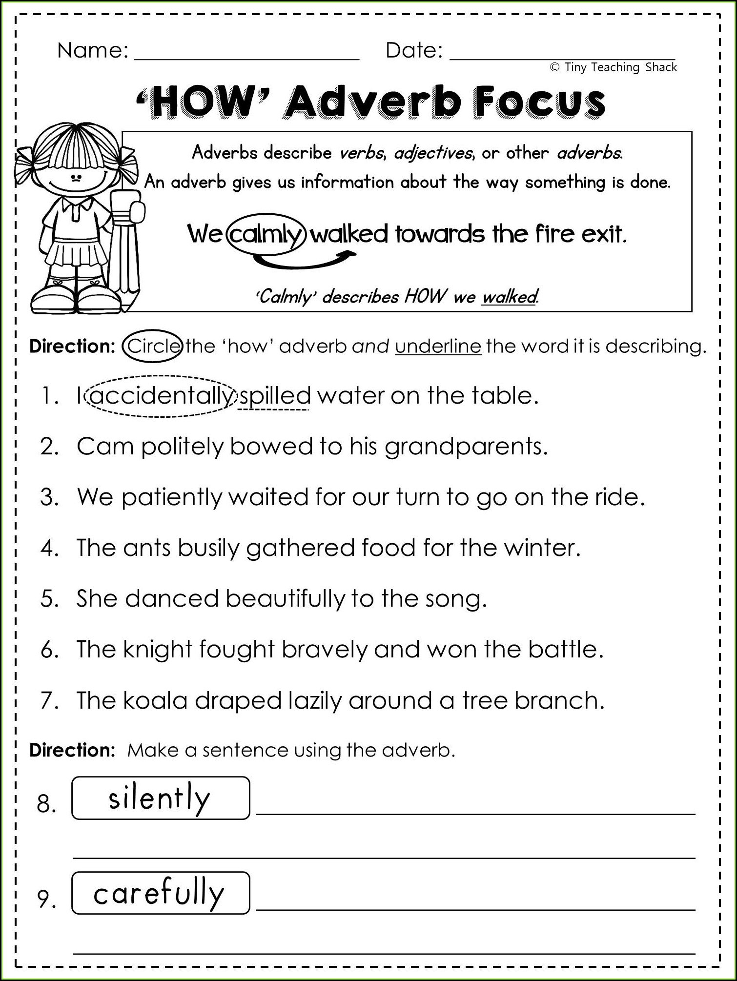 Grade 4 Adverbs Worksheet 4th Grade