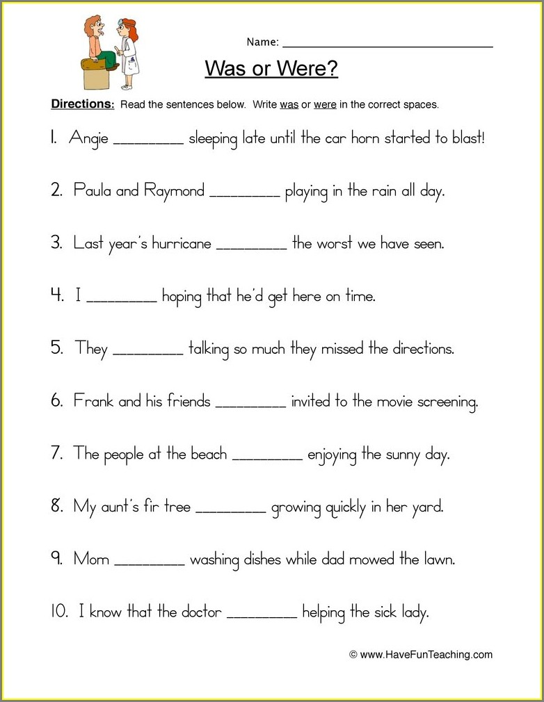 Grade 5 Free English Worksheets