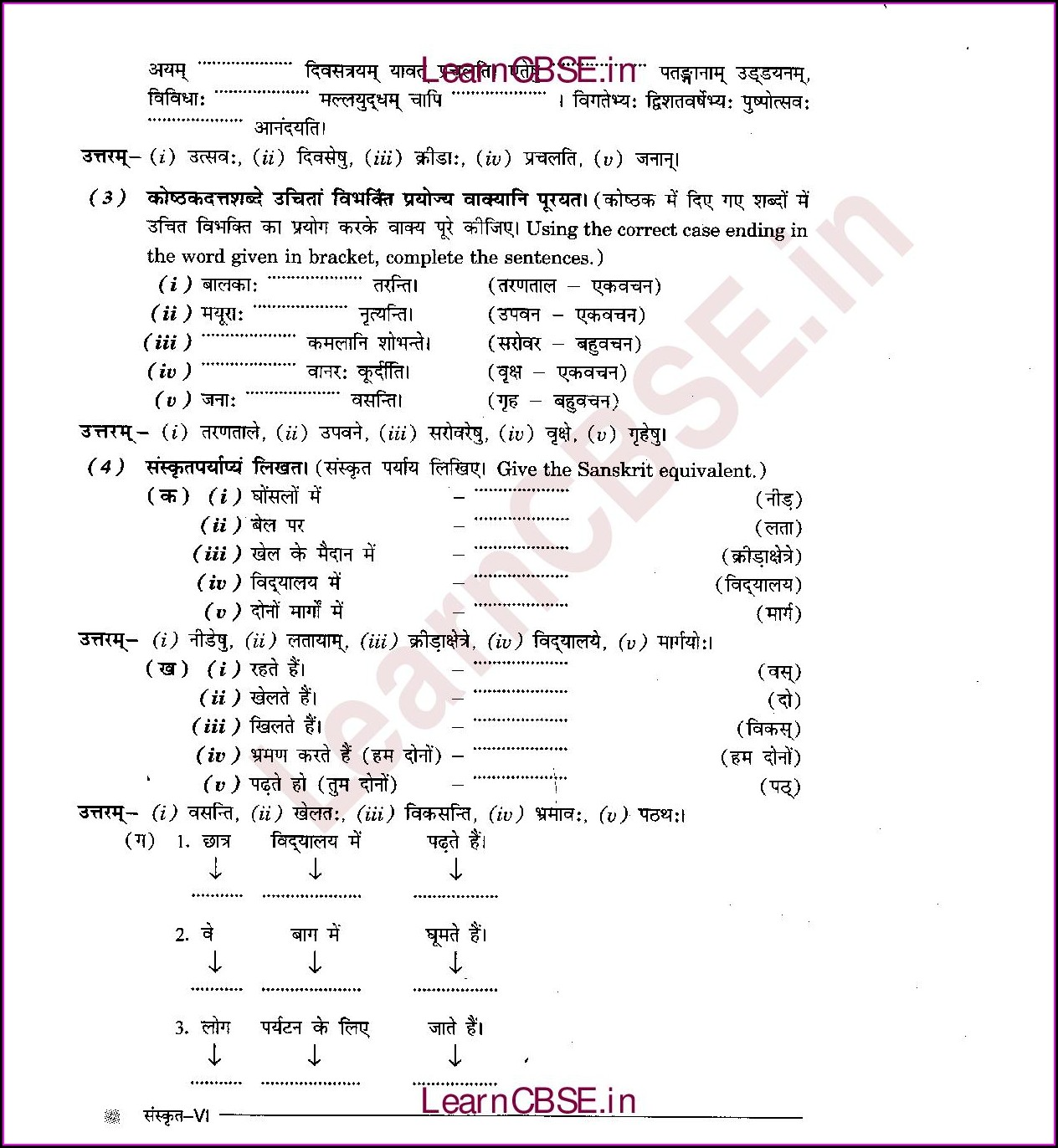 Grade 5 Grammar Worksheets With Answers