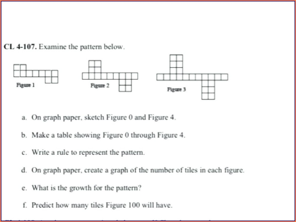 Grade 5 Math Number Patterns Worksheets