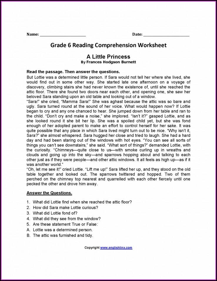 Grade 6 English Worksheets Download