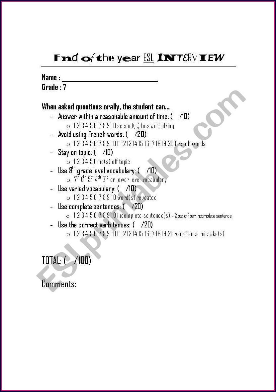 Grade 7 English Worksheets Canada