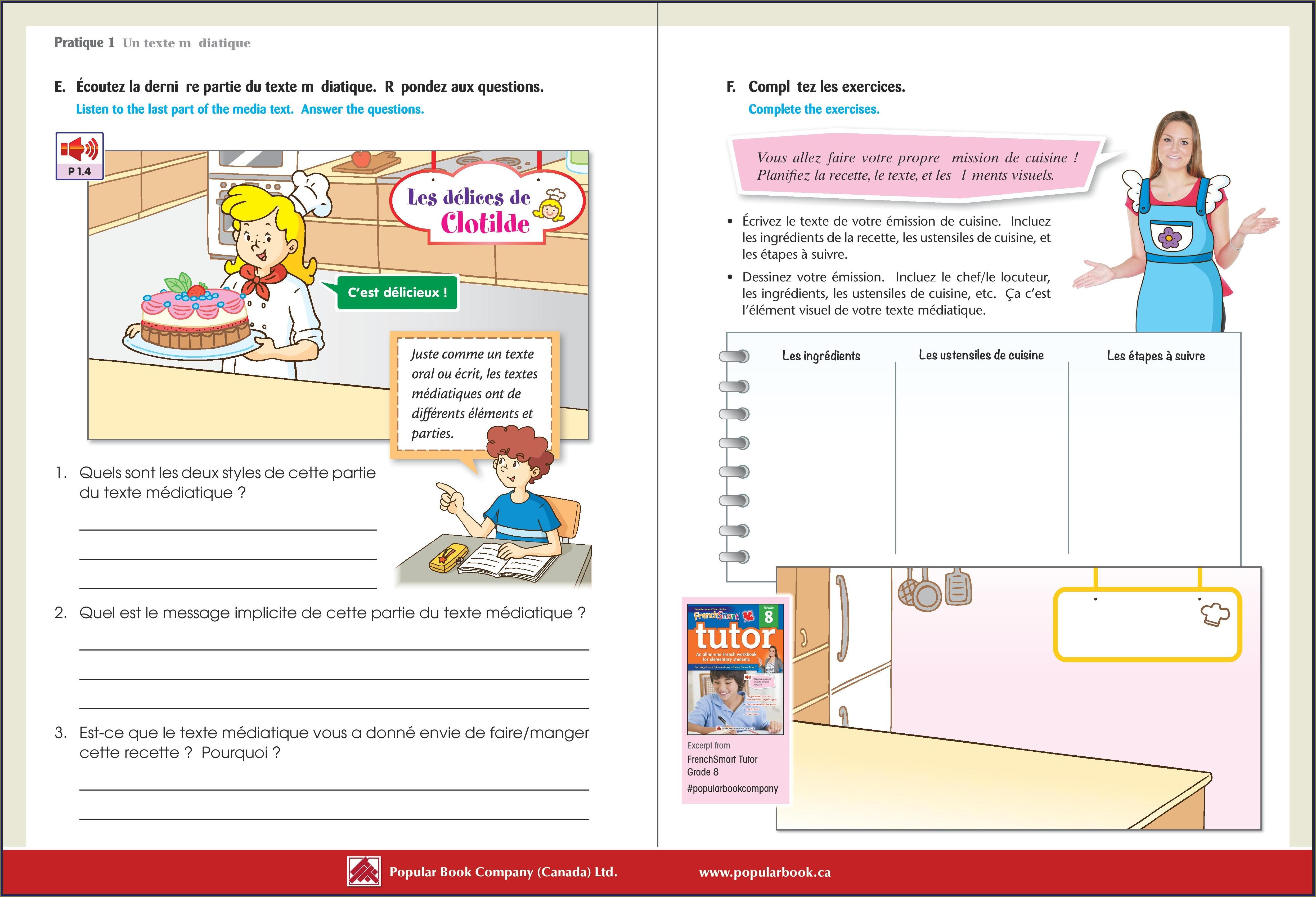 Grade 8 Language Arts Worksheets