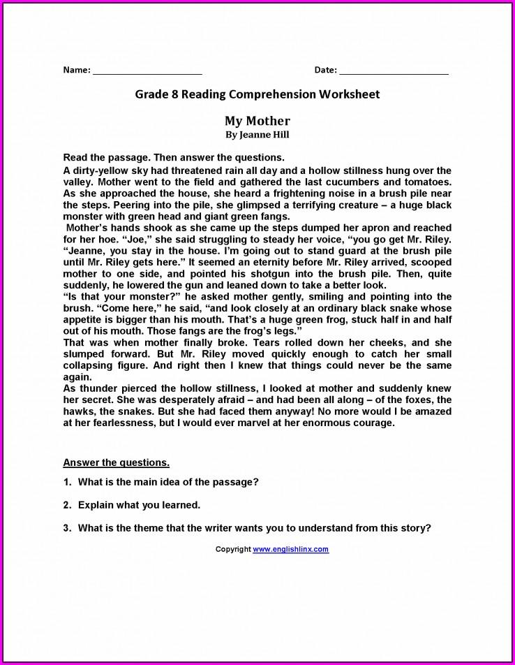 Grade 8 Worksheet Math