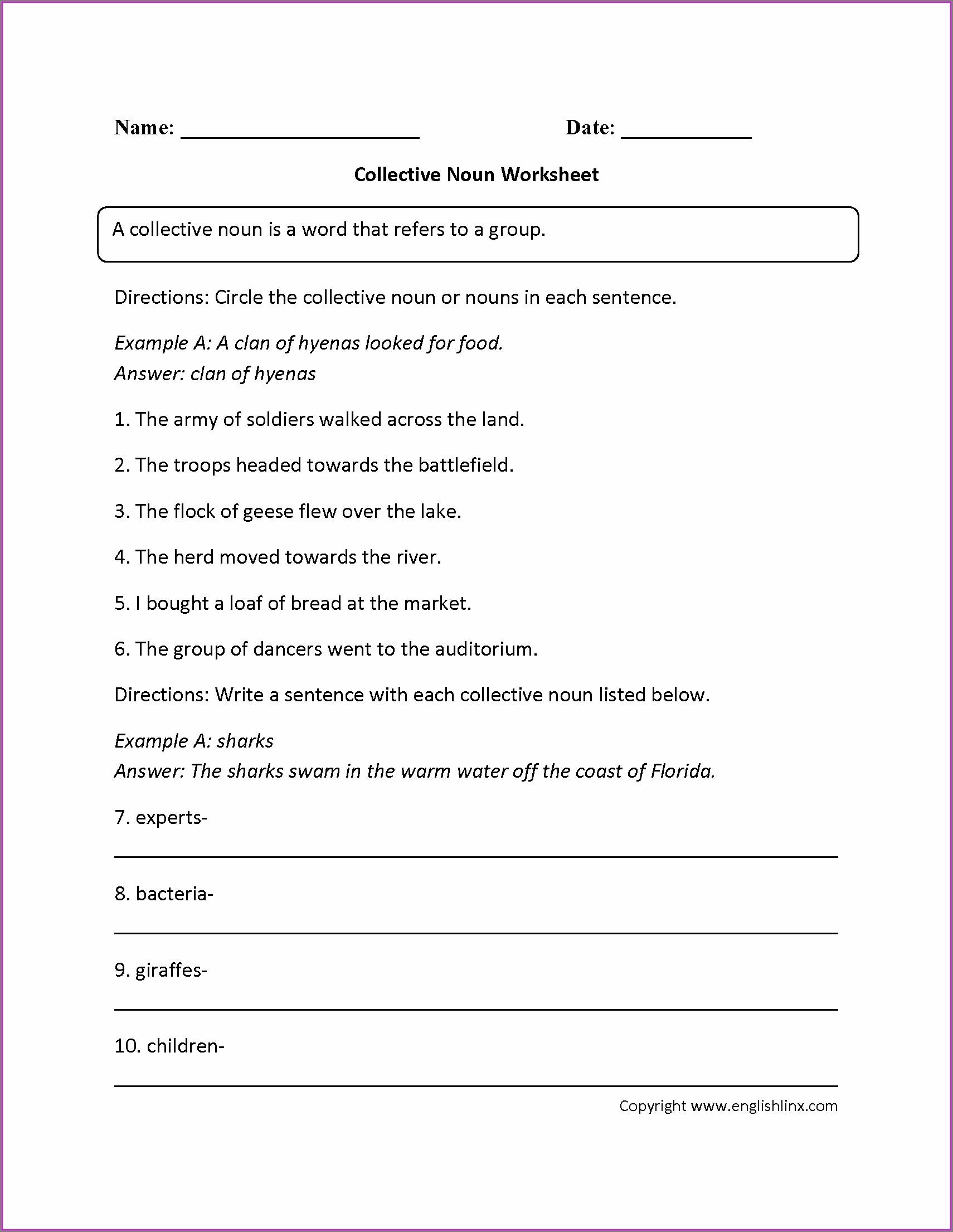 Grade 9 English Worksheets Grammar