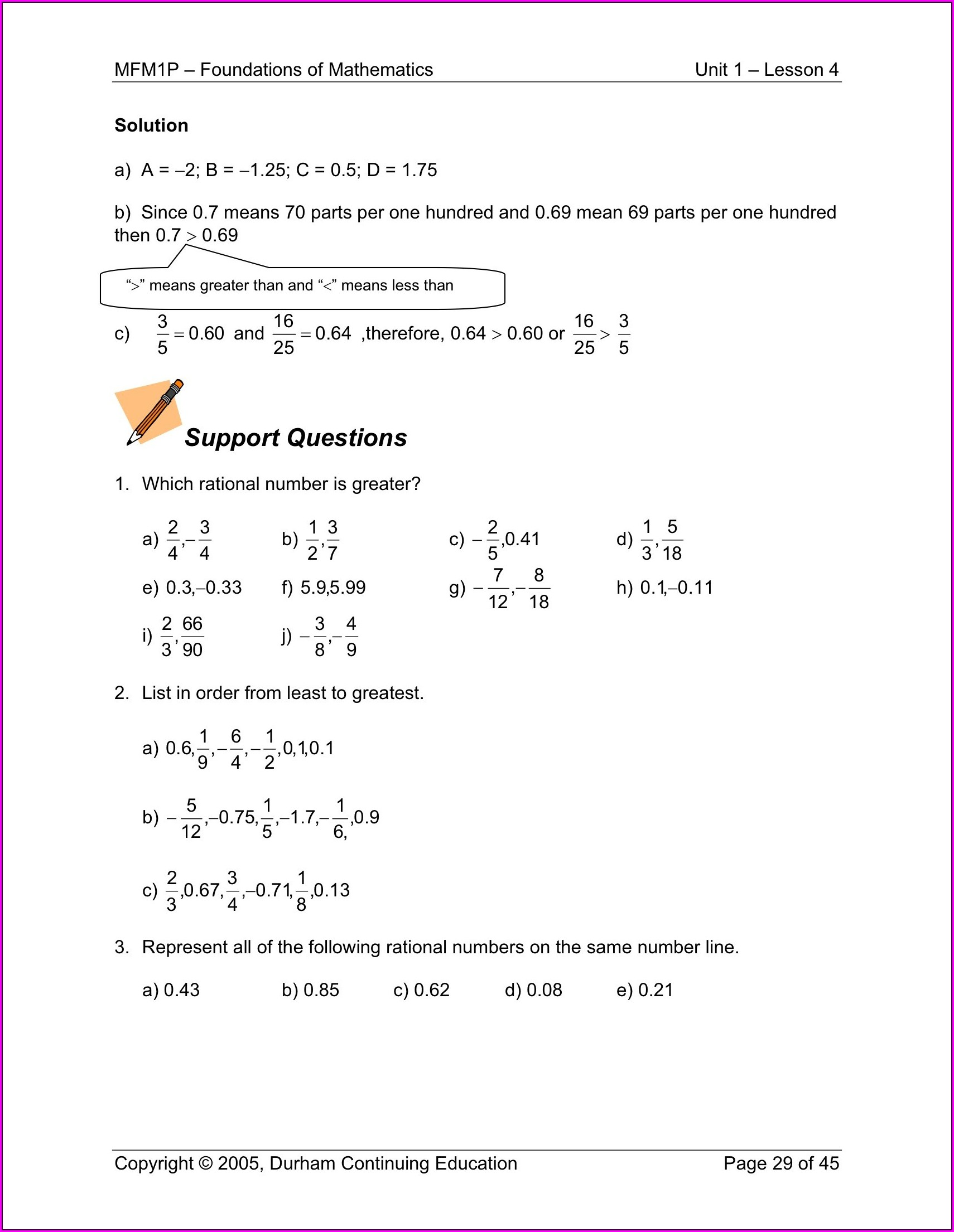 Grade 9 Rational And Irrational Numbers Worksheet