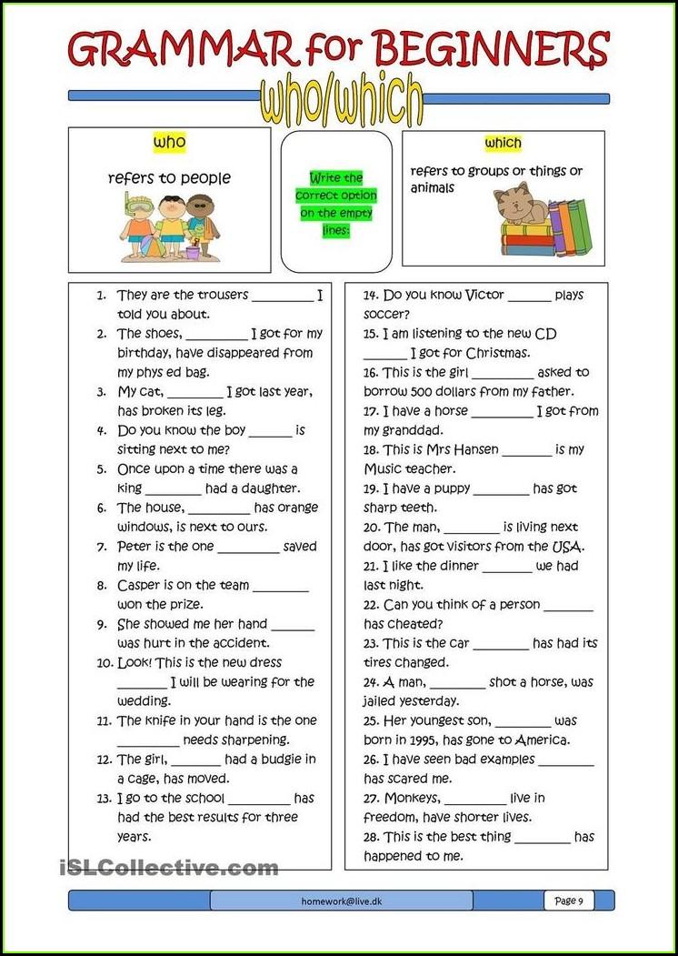 Grammar Worksheets For Grade 1 Adjectives