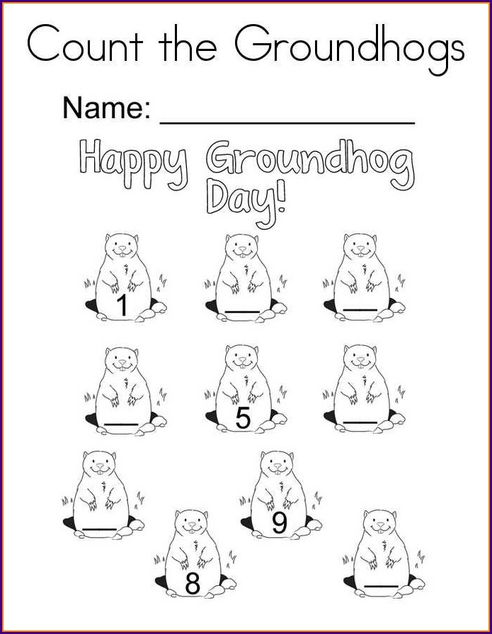 Groundhog Day Printable Activities Free